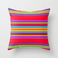 blanket Throw Pillows featuring Guatemalan Blanket by StudioBlueRoom