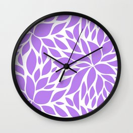 Bloom - violet Wall Clock