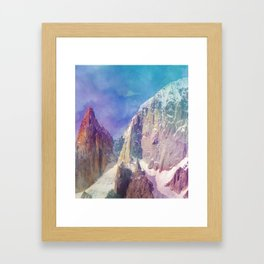 Rock Mountain #society6 #buyart #decor Framed Art Print