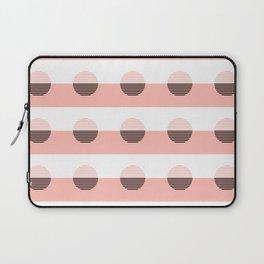 Horizons Geometric Sun Shine Stripe Design 7 - Peach Pink Laptop Sleeve