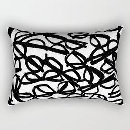 Black Eyeglasses Rectangular Pillow