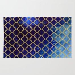 Moroccan magic blue watercolor Rug