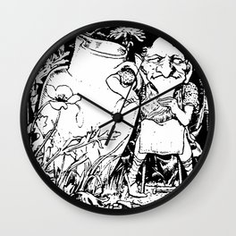 When Leprechauns Go Bad A Surly Drunken Clurichaun Wall Clock