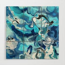 Blue marble Wood Wall Art
