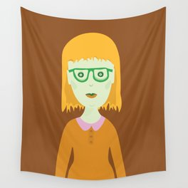 The Girl with the Baby Bangs Wall Tapestry