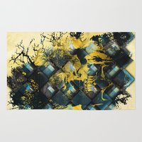 skeletor Area & Throw Rugs featuring Abstract Thinking Remix by DesignLawrence