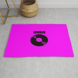 louder music logo Rug