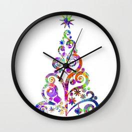 Cristmas Tree Wall Clock