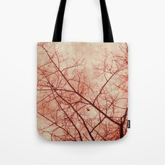 Tree In Red Tote Bag