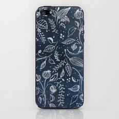 Metallic Floral iPhone & iPod Skin