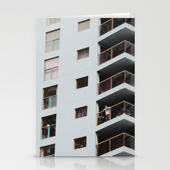 postcard from a tower block... Stationery Cards