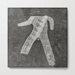 man crossing sign Metal Print
