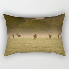 Buck in green grass Rectangular Pillow