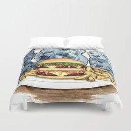 Burger Dogs Duvet Cover