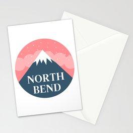 North Bend, Oregon Mountains Landscape Stationery Cards
