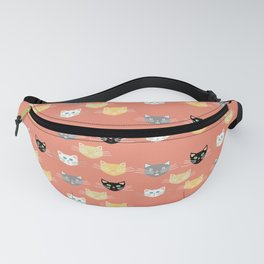 Kitties - Coral Fanny Pack