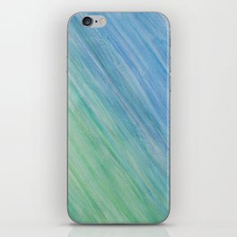 Greens and Blue iPhone Skin