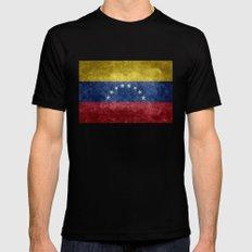 The national flag of the Bolivarian Republic of Venezuela -  Vintage version MEDIUM Black Mens Fitted Tee