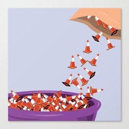 Candy Cones Canvas Print