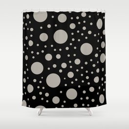 Polka Dots in Black and White Shower Curtain