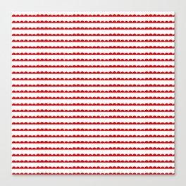Red Scallop Canvas Print