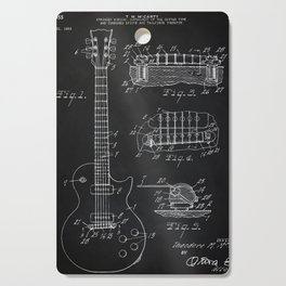 Gibson Guitar Patent Les Paul Vintage Guitar Diagram Cutting Board