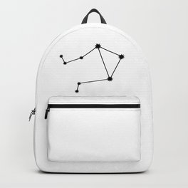 Libra Star Sign Black & White Backpack