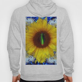 EMERALD GOLD BUG ON SUNFLOWER BUTTERFLY Hoody