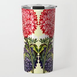 Vintage Seed Catalog Floral Design Travel Mug