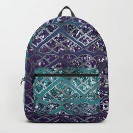 Purple Aqua MERMAID Glitter Scales Dream #2 #shiny #decor #art #society6 Backpack