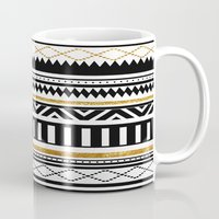 aztec Mugs featuring Aztec by Kakel