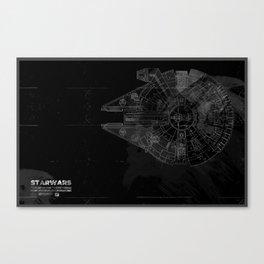 Millenium Space Ship Canvas Print