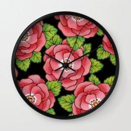 Alpen Rose allover Wall Clock
