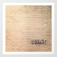library Art Prints featuring Library by Elizabeth Lucas