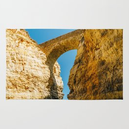 Stone Bridge Over Rock Formations In Lagos, Wall Art Print, Landscape Art, Poster Decor, Large Print Rug