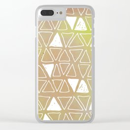 Tribal Watercolours - in Sunset Yellow Clear iPhone Case