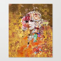 rose gold Canvas Prints featuring Rose. Gold by Steve W Schwartz Art