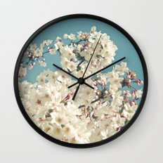 Buds in May Wall Clock