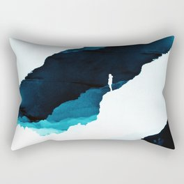 Teal Isolation Rectangular Pillow