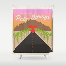 GREETINGS FROM PALM SPRINGS Shower Curtain