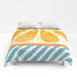 Orange Abstract Comforters