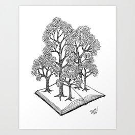 Book Forest Art Print