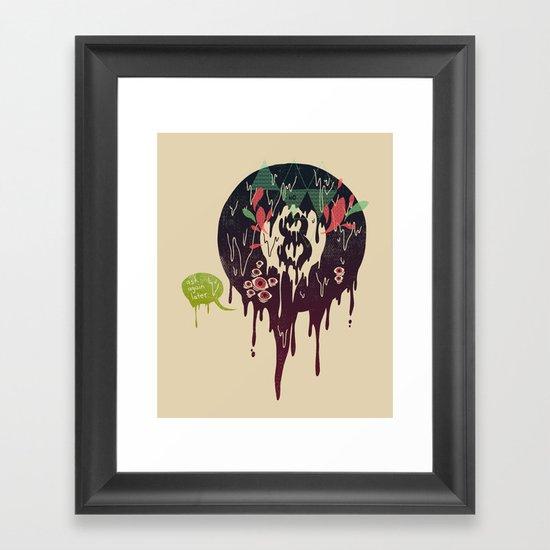 Bad Omen Framed Art Print
