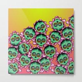 Cute Skulls Franky Metal Print