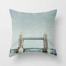 Letters From the Tower Bridge - London Throw Pillow
