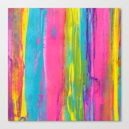 Rainbow Abstract - Summer Nights in Miami V2 Canvas Print