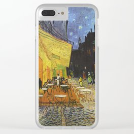 Café Terrace at Night by Van Gogh Clear iPhone Case
