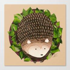 Paper Hedgehog Canvas Print
