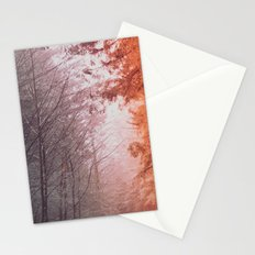 Forest Tree Mountain - Foggy Woods Stationery Cards