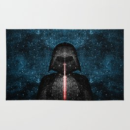 Darth Vader with Lightsaber in Galaxy Rug
